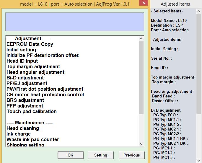 Epson L810 L850 Resetter or Adjustment Program Free Download