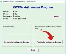 Epson L380 L383 L385 L485 Resetter Free Download - Baromishal