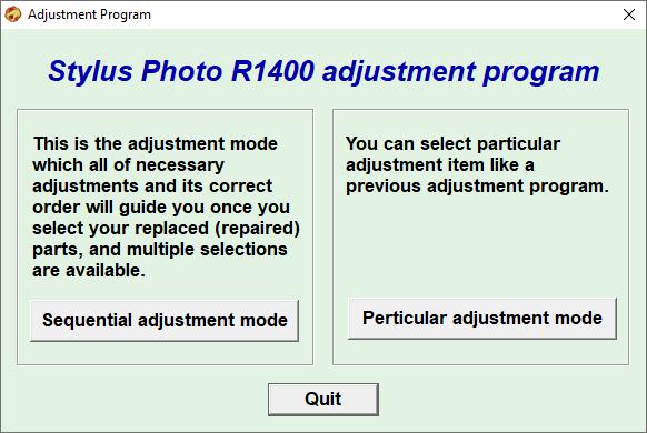 Epson R1400 Adjustment Program