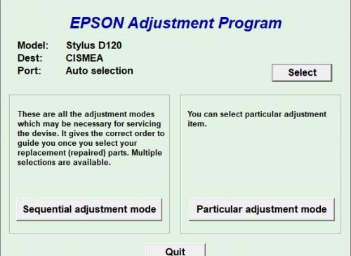 Epson D120 Resetter