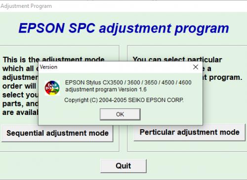 CX3500 CX3600 CX3650 CX4500 CX4600 Adjustment Program