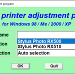 Epson RX500 RX510 Resetter Free Download