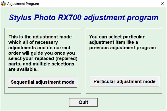 Epson RX700 Resetter