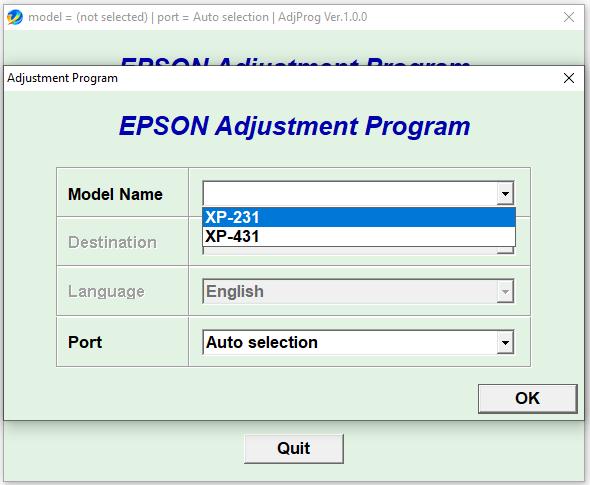 Epson XP-231 XP-431