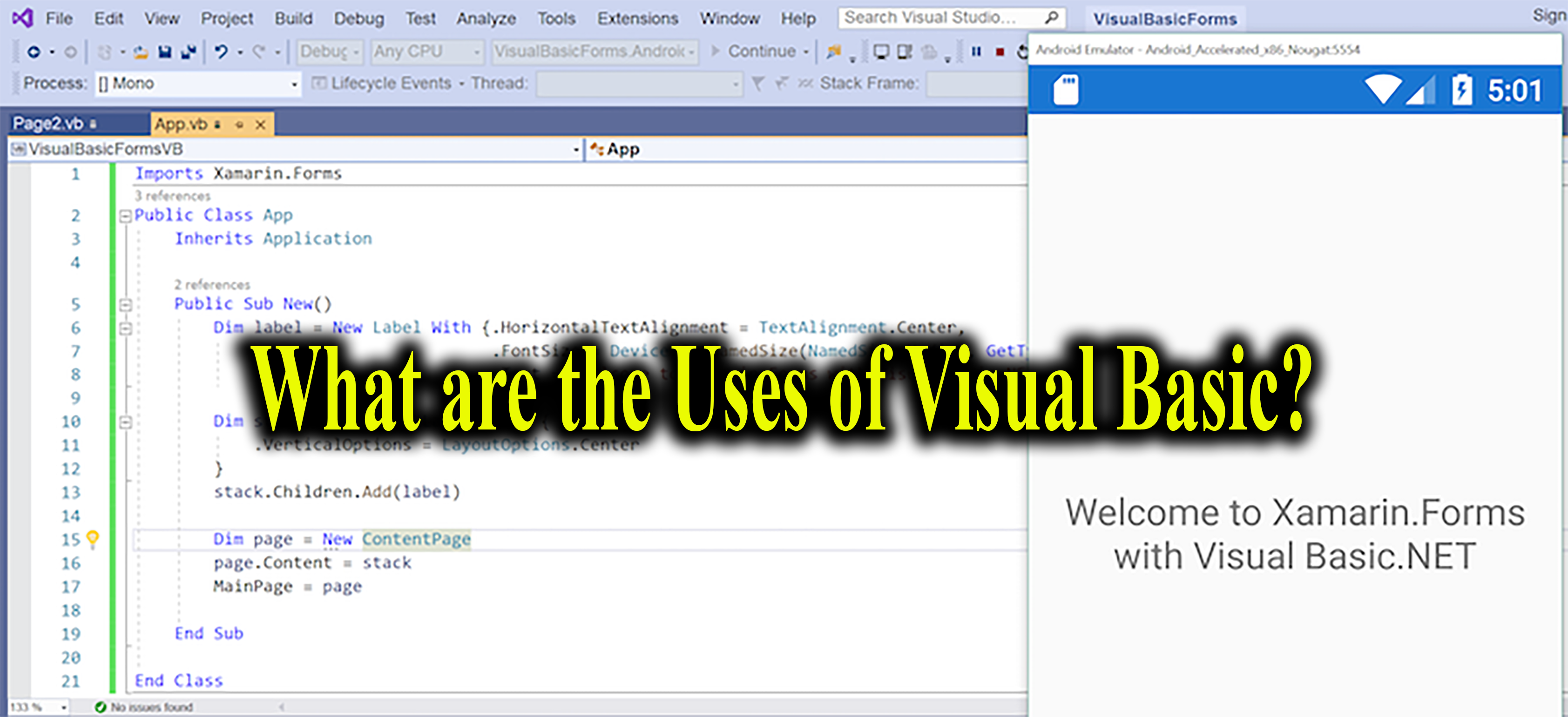 Visual Basic Uses
