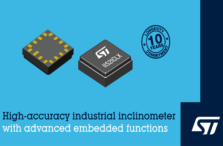 IIS2ICLX Digital Inclinometer from STMicroelectronics