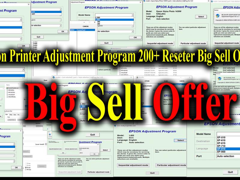 Epson Resetter Bundle Pack 200+ Resetter mega offer