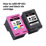 How to refill HP 651 color and black ink cartridge