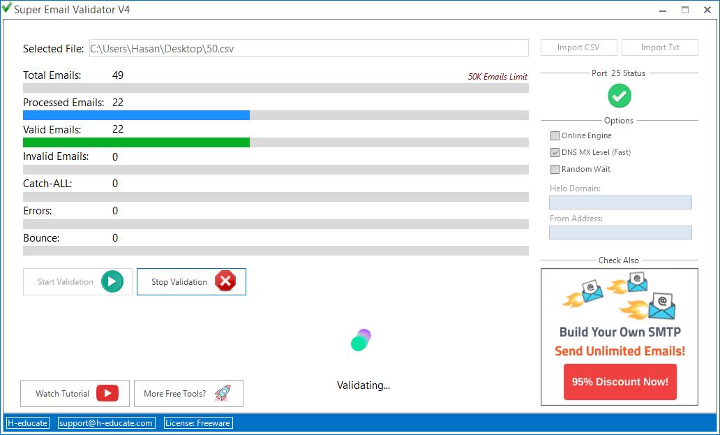 Super Email Validator