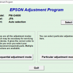 Epson PM-G4500 Resetter Free Download