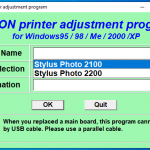 Epson SP2100 SP2200 resetter free download