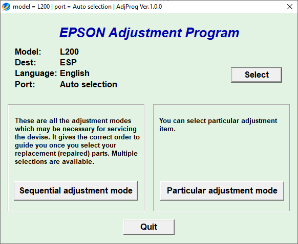 Epson L200 Resetter Free Download
