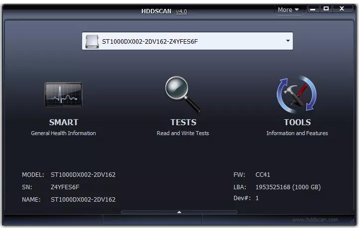 HDDScan Free Hard Drive Testing Tool