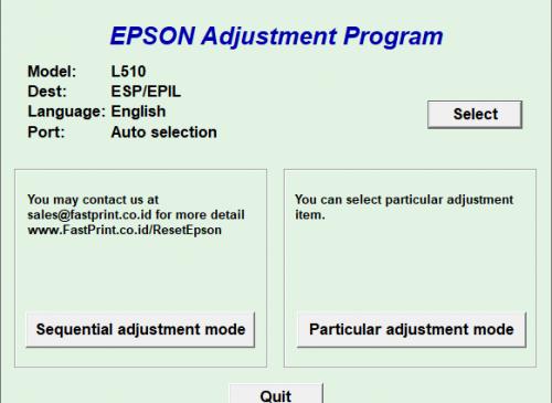 Epson L510 resetter