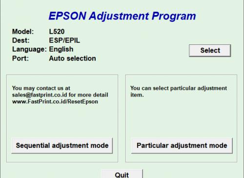 Epson L520 Resetter