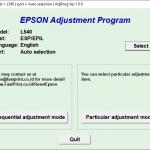 Epson L540 resetter
