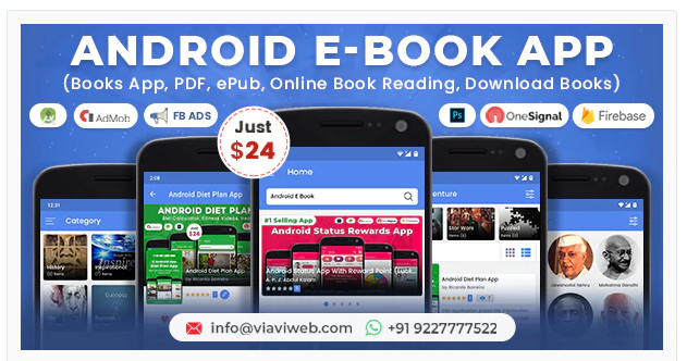 Android EBook App (Books App, PDF, ePub, Online Book Reading, Download Books)