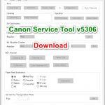 Canon Service Tool v5306