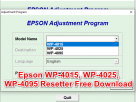 Epson Wp4015 WP4025 WP4095 Resetter Free Download