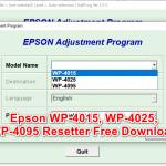Epson Wp4015 WP4025 WP4095 Resetter Free Download