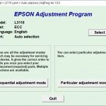Epson L3110 Adjustment Program