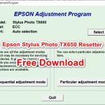 Epson Stylus Photo TX650 Resetter