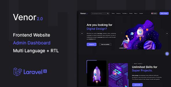 Venor - Multipurpose Website CMS & Creative Agency Management System