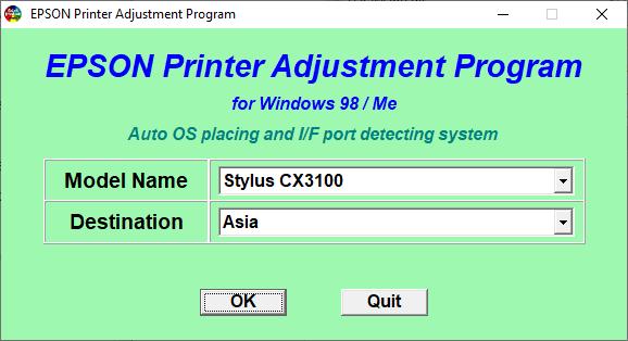 Epson CX3100 Resetter Adjustment Program Tool Free Download
