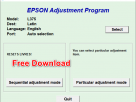 Epson L375 Resetter Tool Free Download